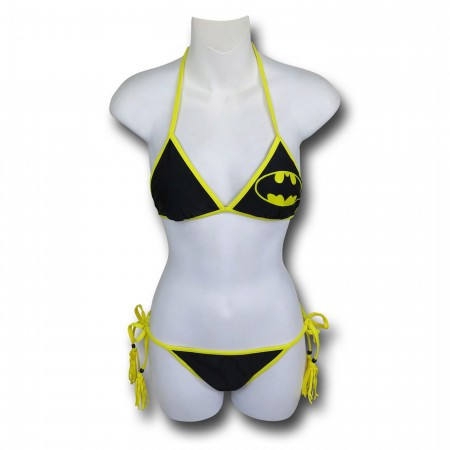 Batman Triangle Tassel String Bikini
