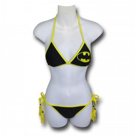 Batman Triangle Tassel String Bikini