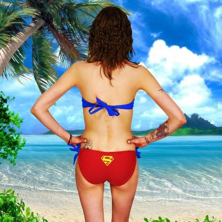 Supergirl Wrap Halter Bikini