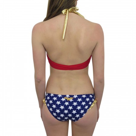 Wonder Woman Lace-Up Top Bikini