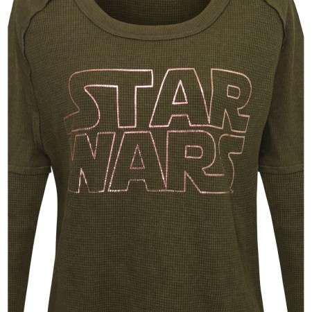 Star Wars Rose Gold Logo Women's Thermal Shirt