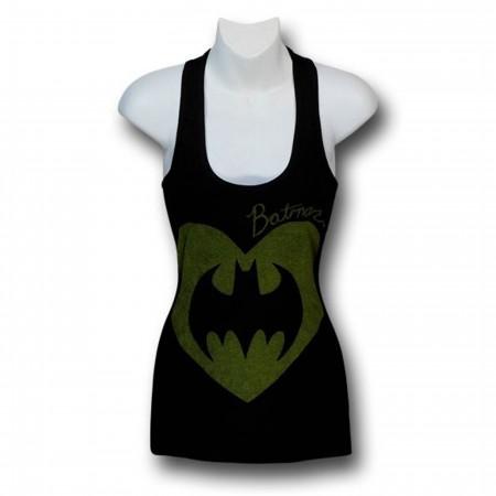 Batman Heart Symbol Women's Flared Tank Top