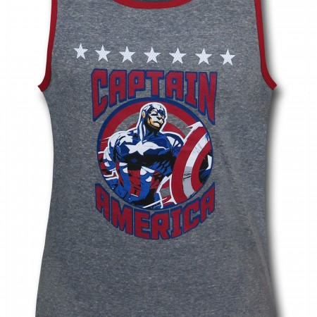Captain America Circle Kids Tank Top