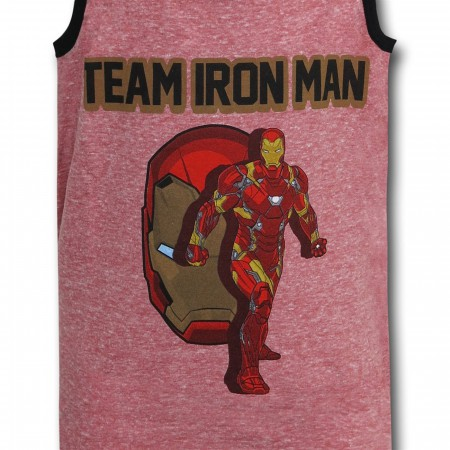 Captain America Civil War Team Iron Man Kids Tank Top