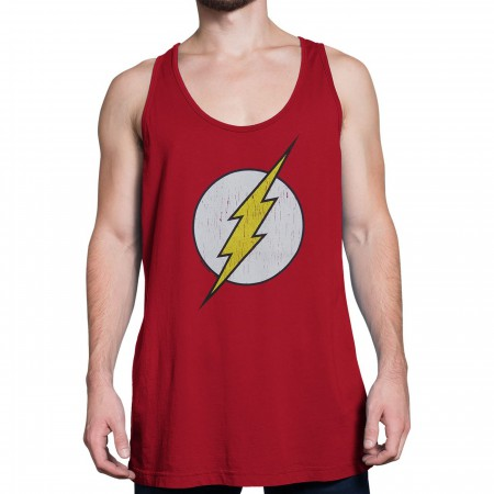Flash Distressed Symbol Red Tank Top