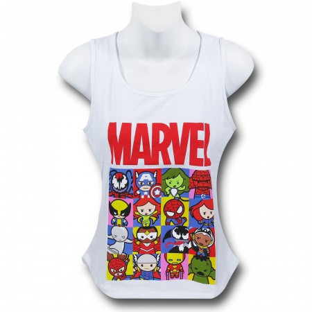 Marvel Kawaii Grid Women's Tank Top