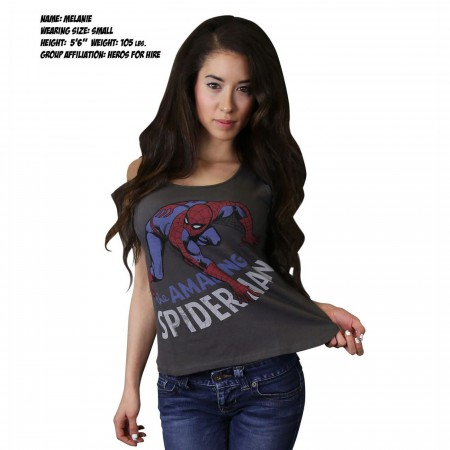Spiderman Leapfrog Women's Fitted Tank Top