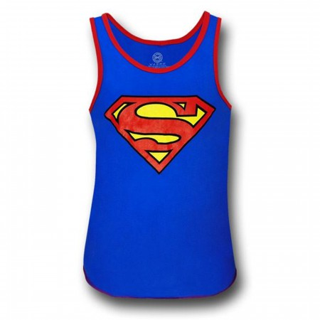 Superman Red Ringed Blue Symbol Tank Top