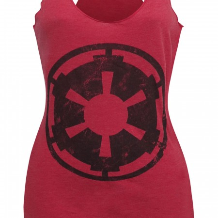 Star Wars Empire Symbol Heather-Red Women's Tank Top