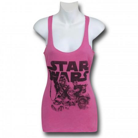 Star Wars Force Awakens Women's Pink Tank Top