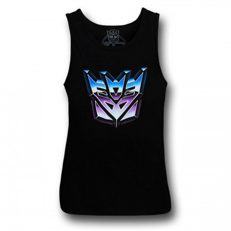 Transformers Decepticon Symbol Black Tank Top