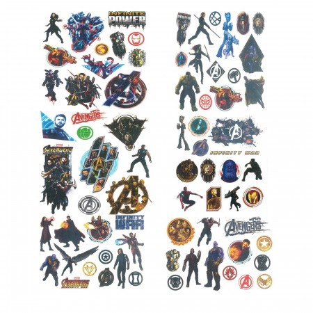 Avengers Infinity War Tattoo Set