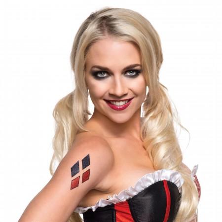 Harley Quinn Symbol Glitter Tattoo