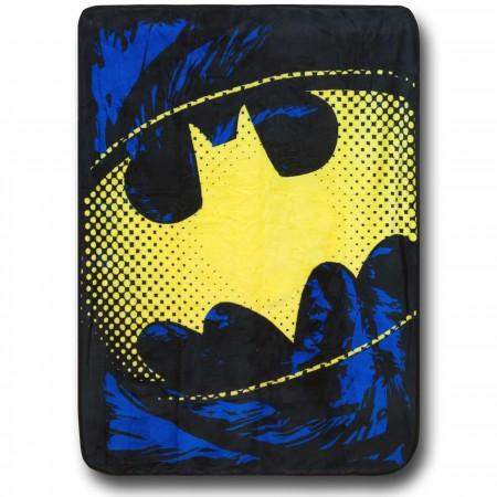 Batman Yellow Symbol Throw Blanket