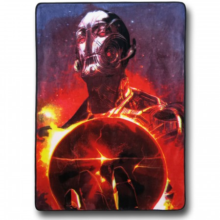 Ultron Earth Clutch Fleece Throw Blanket