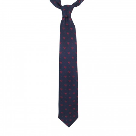 Superman Symbol Dot Tie