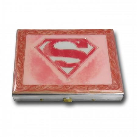Supergirl Symbol Metal Tin Box