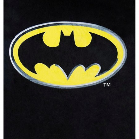 Batman Symbol Black Beach Towel