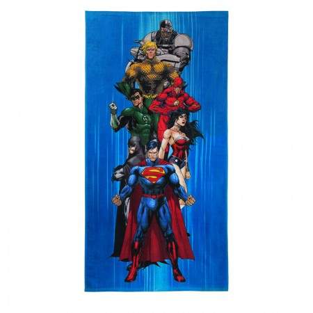 Justice League Team Beach Towel