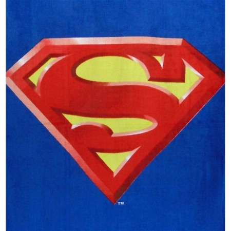 Superman Symbol Beach Towel
