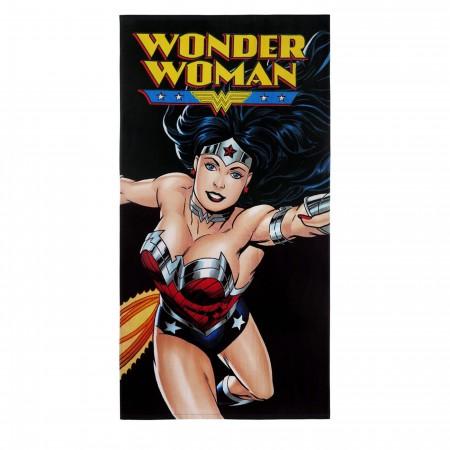 Wonder Woman Flight Beach Towel
