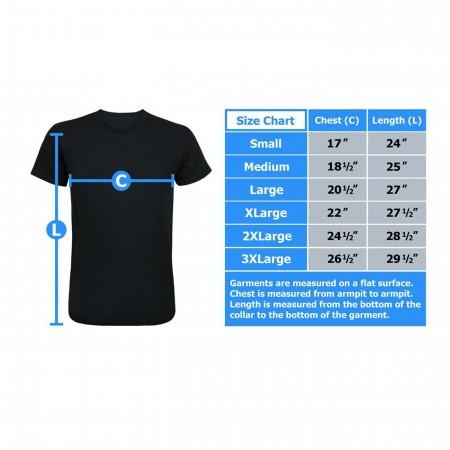 Aquaman Good Vs Evil Men's Sublimated T-Shirt Front Print Only