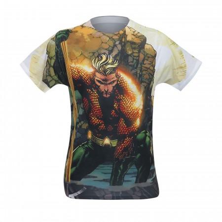 Aquaman Good Vs Evil Men's Sublimated T-Shirt