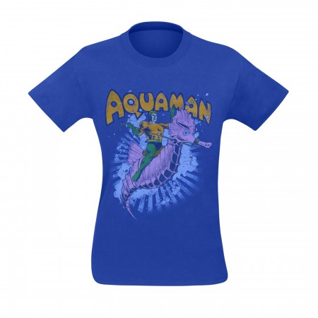 Aquaman And Storm The Seahorse Men's T-Shirt
