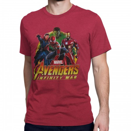 Avengers Infinity War Team Spider-Man Men's T-Shirt