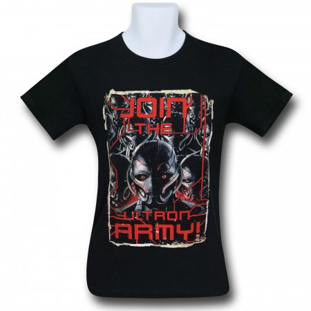 Avengers Age of Ultron Army 30 Single T-Shirt