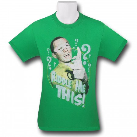 Batman 66 Riddler Riddle Me This Green T-Shirt