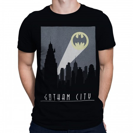 Batman Art Deco Gotham City Signal Men's T-Shirt
