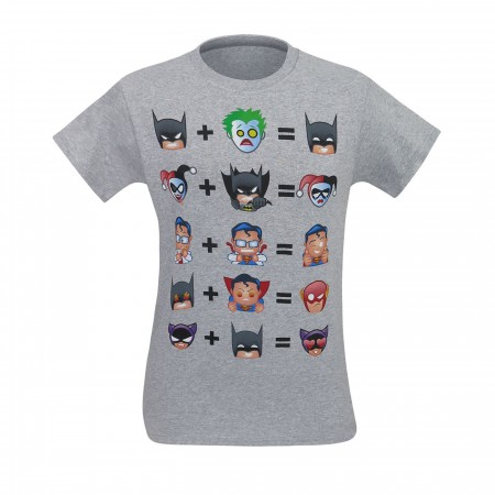 Batman and Friends Math Emoji Men's T-Shirt