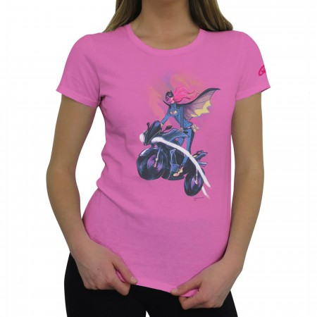 Batgirl Bat-Cycle Soar Women's T-Shirt