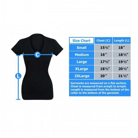 Batgirl Bombshell Women's V-Neck T-Shirt