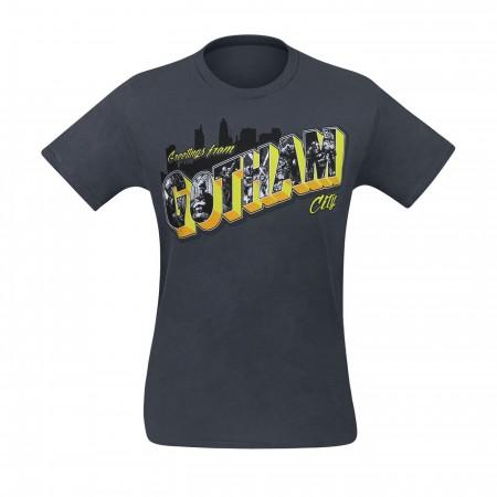 Batman Greetings from Gotham City Men's T-Shirt