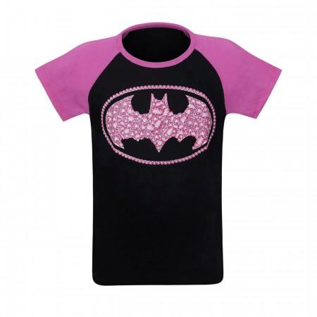 Batgirl Kids Sugar Glitter Symbol T-Shirt