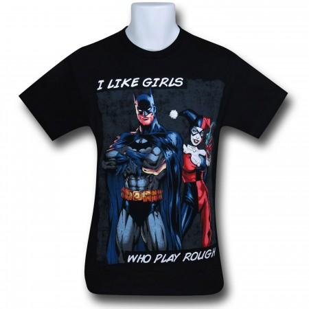 Batman Harley Plays Rough T-Shirt