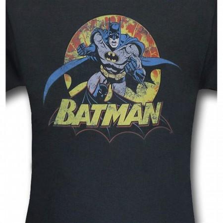 Batman Sunburst Fury Kids T-Shirt
