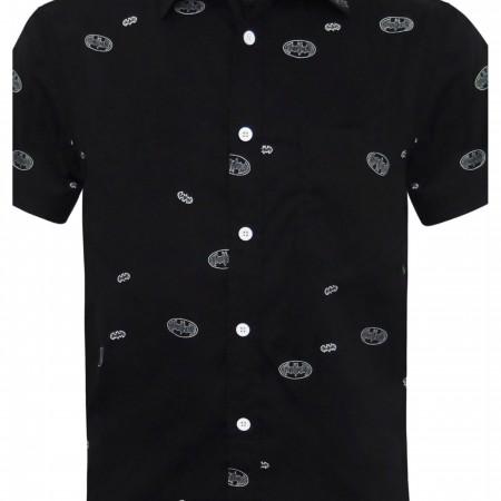 Batman Logo Men's Woven Button Down Shirt