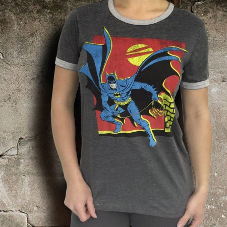 Batman Night Prowler Burnout Ringer Women's T-Shirt