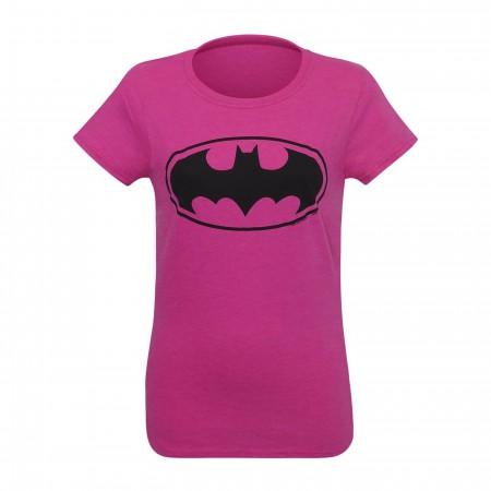 Batman Symbol Women's Pink T-Shirt