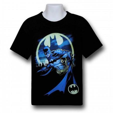 Batman Bat Signal Response Kids T-Shirt