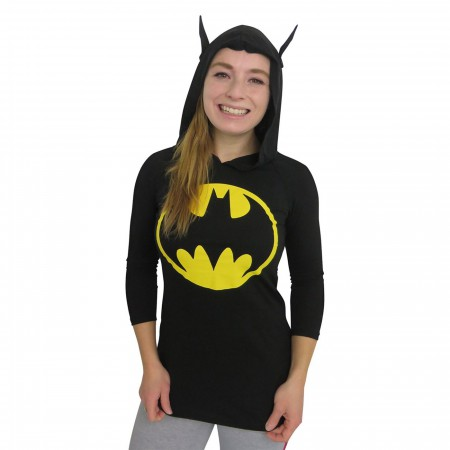 Batman Signal Women's Hooded Long Sleeve T-Shirt