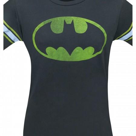 Batman Symbol Black Wash Men's Athletic T-Shirt