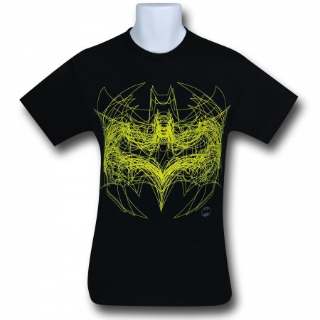Batman Symbol Outline Overlay T-Shirt