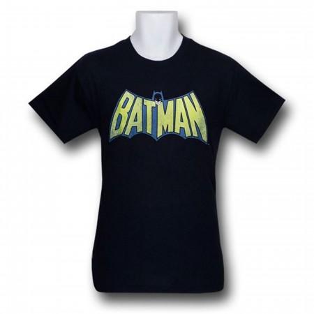Batman Distressed Logo Navy Kids T-Shirt