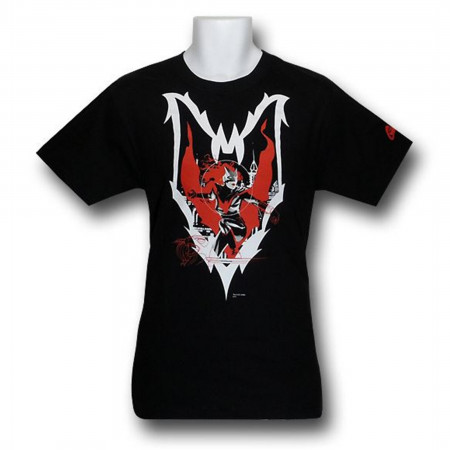 Batwoman Character Action Pose Inside Symbol T-Shirt