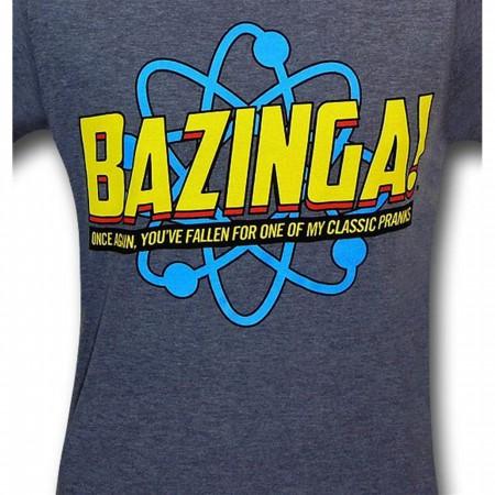 Big Bang Theory Bazinga Pranks 30 Single T-Shirt