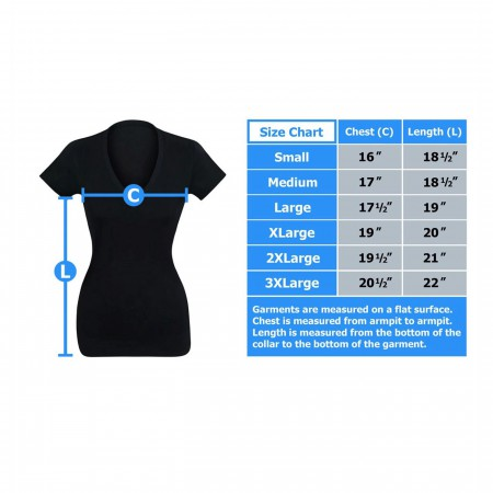 Black Widow Minimalist Women's V-Neck T-Shirt